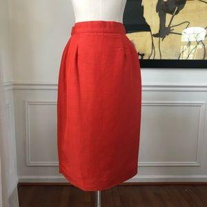 Vintage Dead Stock Spiegel Orange Pencil Skirt 4